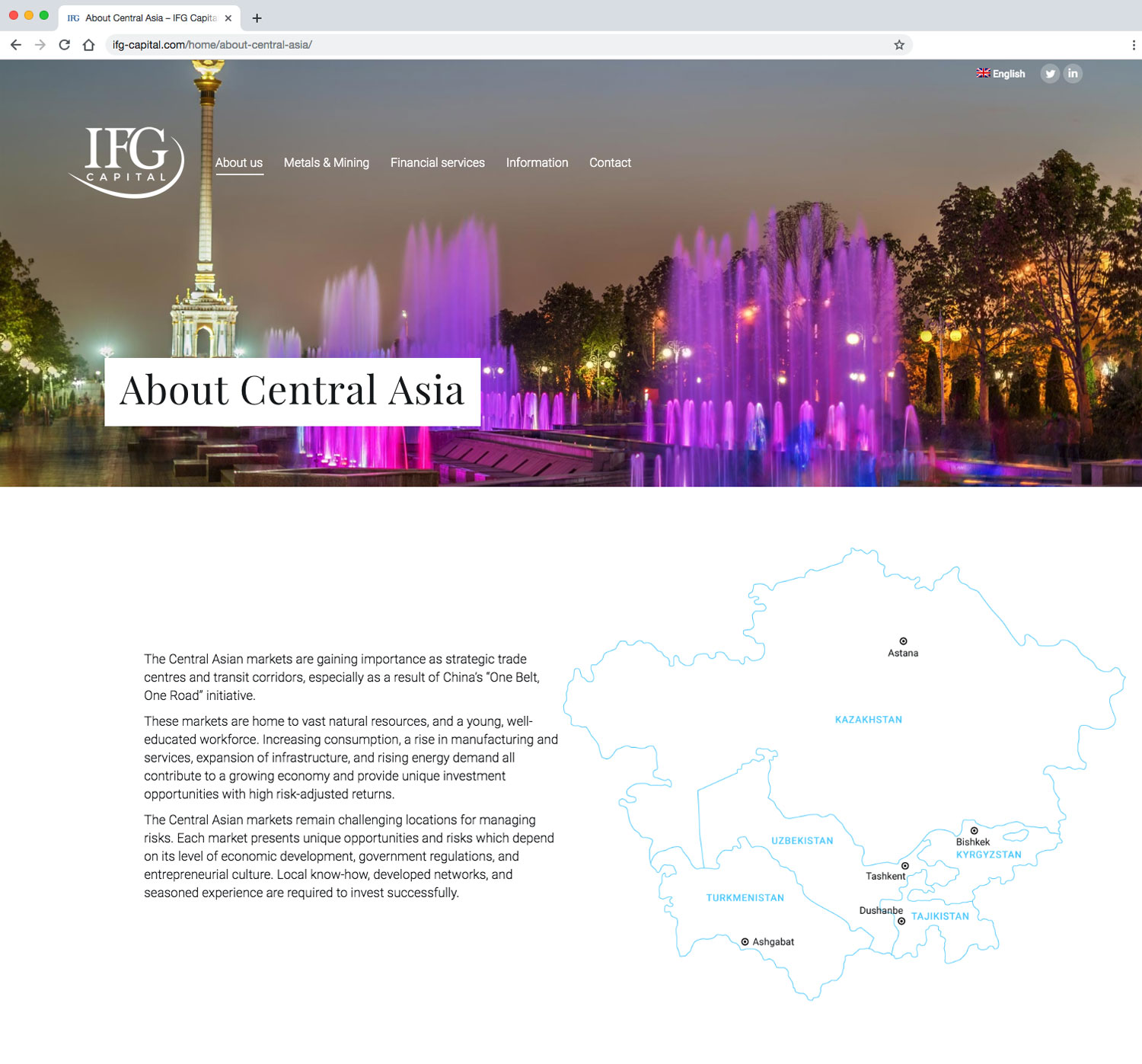 IFG Capital - Central Asia