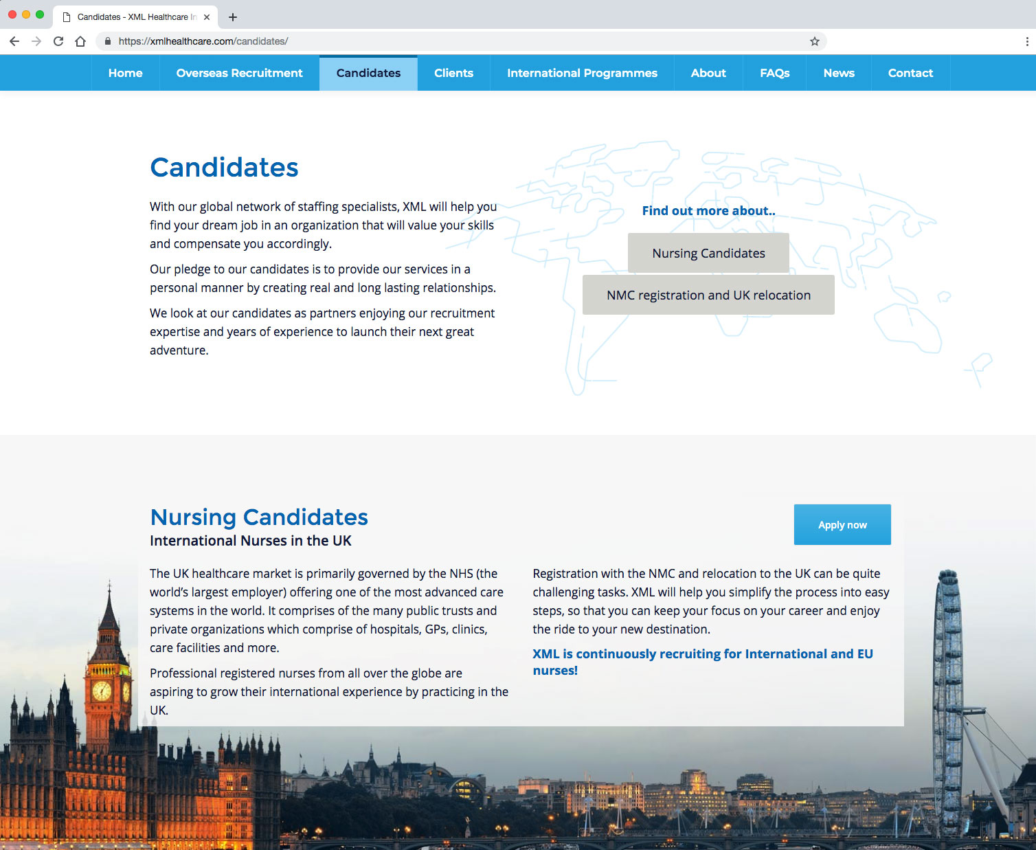 XML Healthcare Candidates