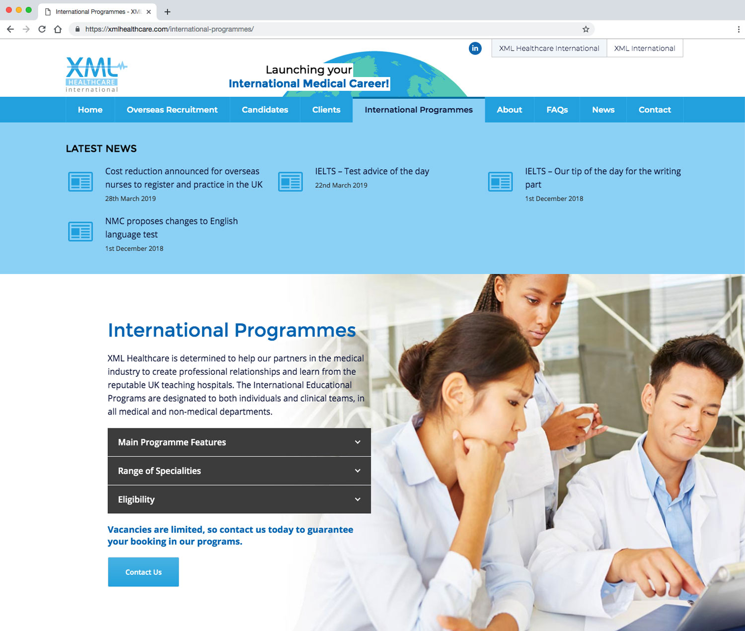 XML Healthcare International Programmes