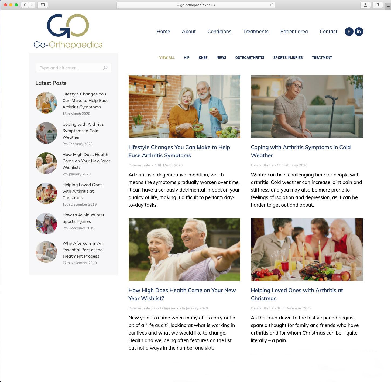 Go Orthopaedics Blog Page