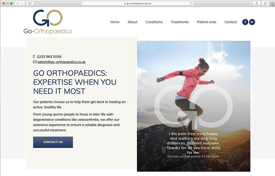 Go Orthopaedics Home Page