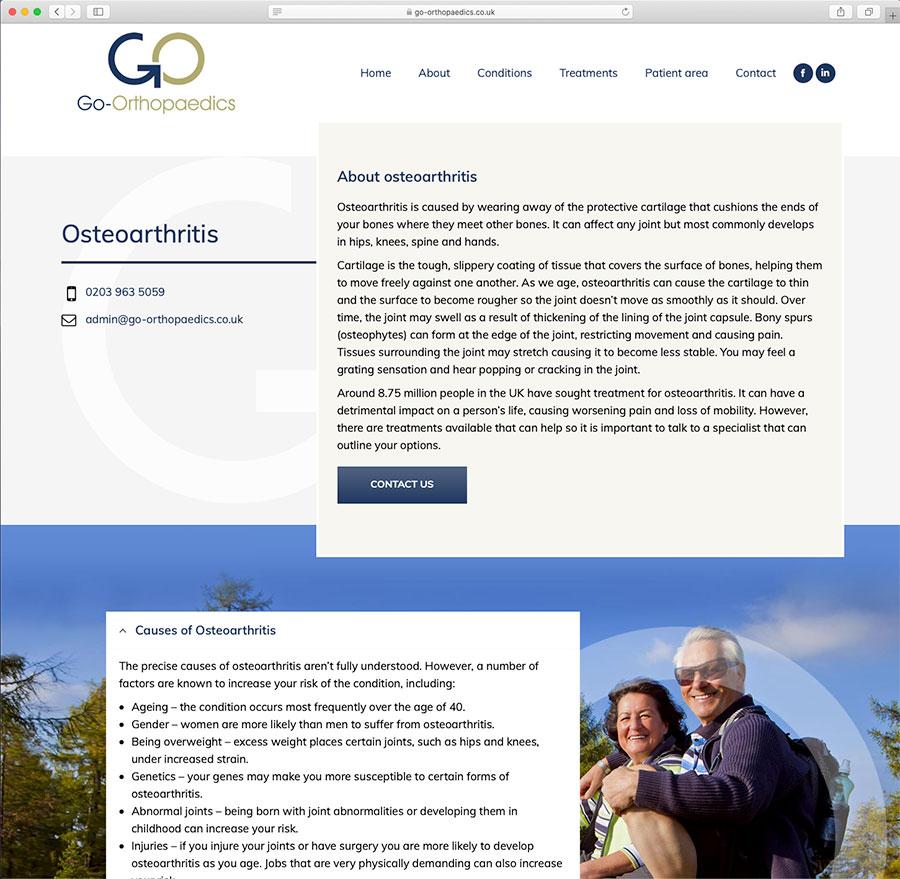 Go Orthopaedics Osteoarthritis Page