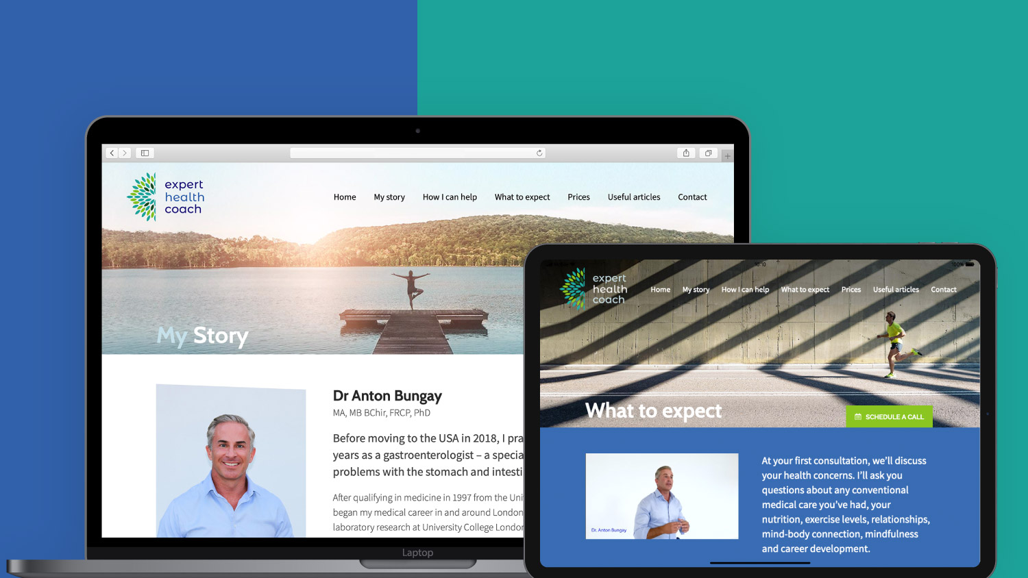 Expert Health Coach - Laptop and Tablet